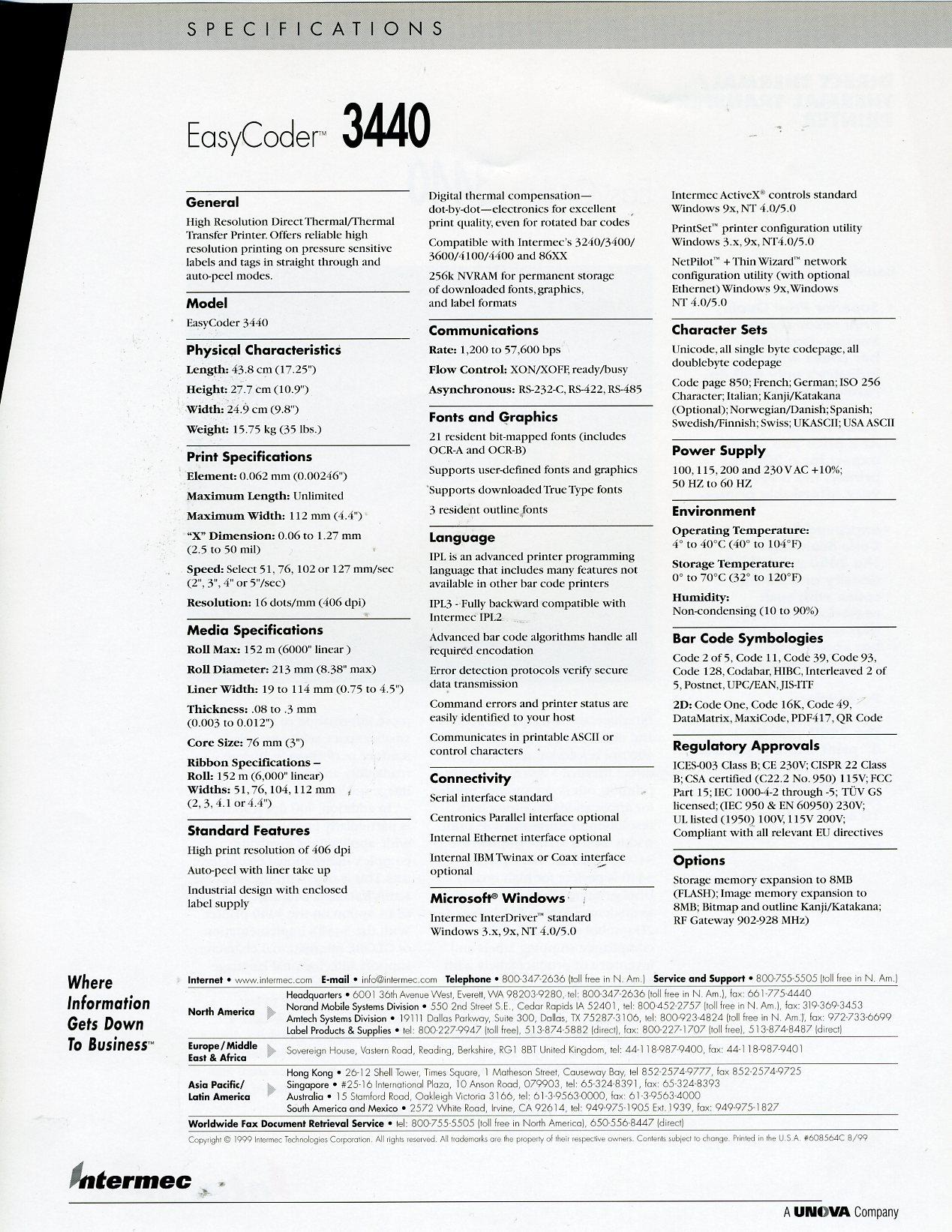 3440 Printer | Intermec Museum | Accurate Data